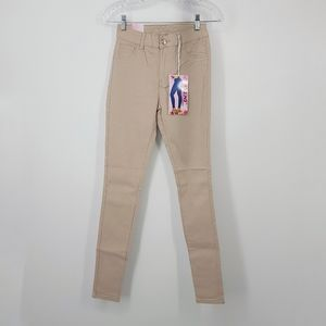 JVINI High Waisted Stretch Cream Color Jeggings